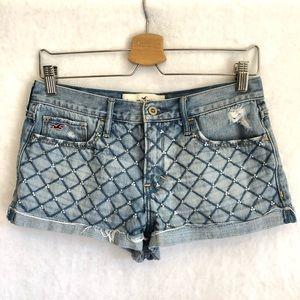 Hollister Jeans Shorts Juniors 7 embellished